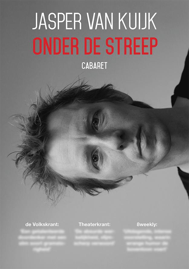 Flyer Onder de Streep - Jasper van Kuijk